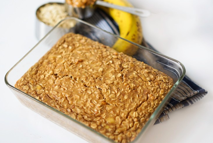 Baked Oatmeal Banana Peanut Butter #glutenfree #vegan #myvegetarianfamily