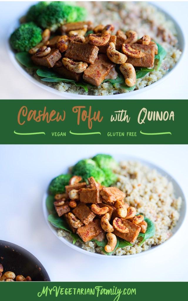 Baked Cashew Tofu With Quino #vegan #glutenfree #myvegetarianfamily