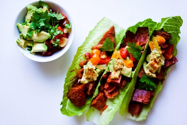 Jackfruit Lettuce Wrap #myvegetarianfamily
