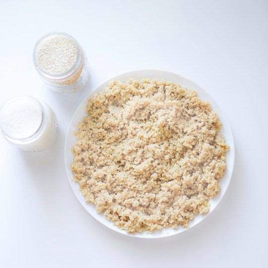 Quinoa cooked in Almond Milk Instant Pot