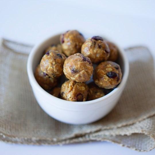Cranberry Nut Butter Energy Bites Vegan Gluten Free No Bake