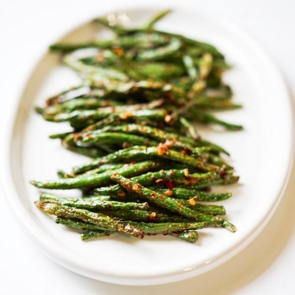 Air Fryer Green Beans #myvegetarianfamily #healthy #vegan