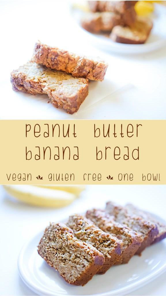Peanut Butter Banana Bread #myvegetarianfamily #vegan #glutenfree