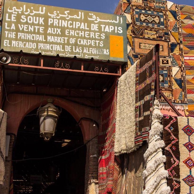 carpet shopping morocco