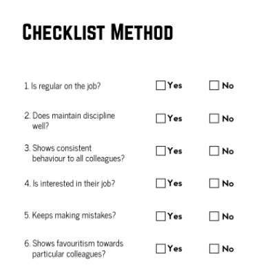 checklist-method