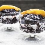 Vegan Cardamom & Bay Infused Black Rice Pudding With Maple Glazed Pears