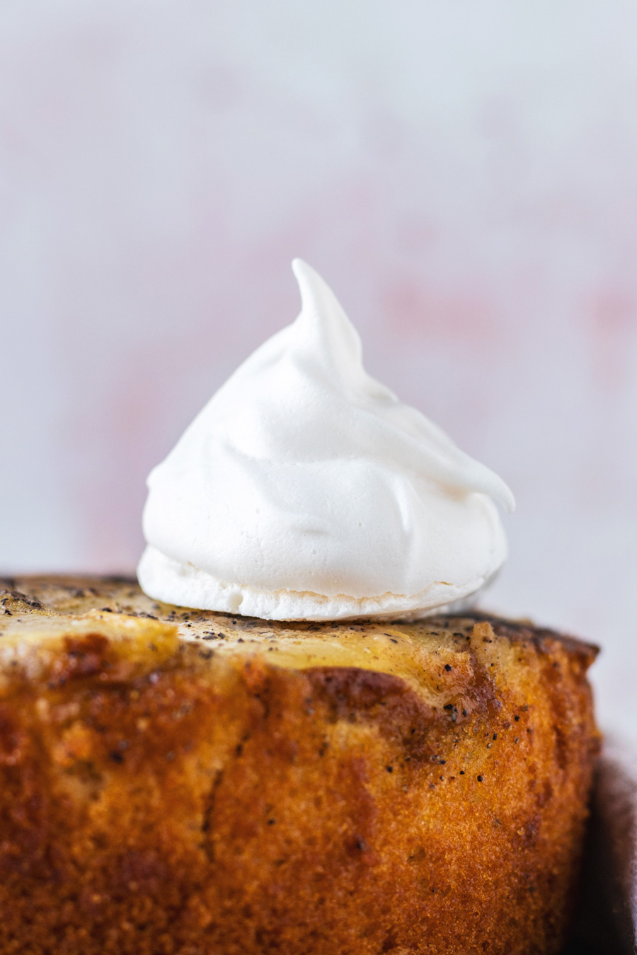 Vegan Cardamom Pear Upside-Down Cake