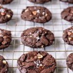Vegan Salted Double Chocolate Hazelnut Cookies