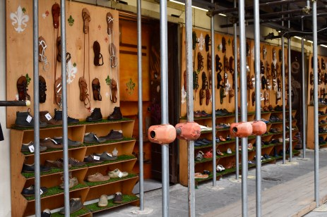 One of many handmade leather shoe stores.