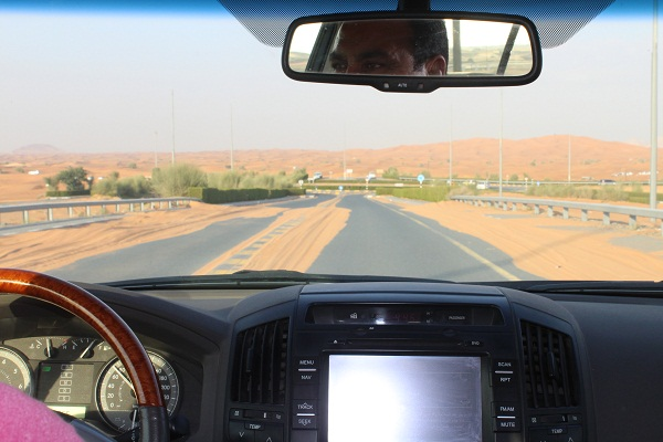 Sand on the highway