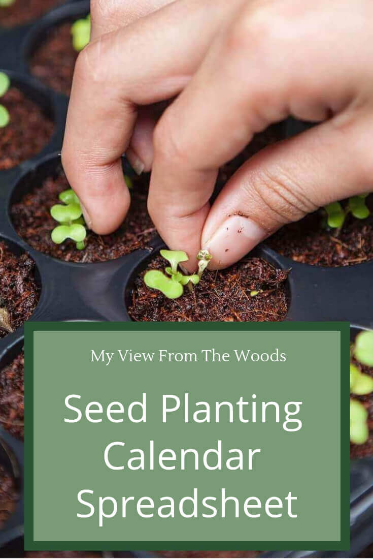 planting calendar spreadsheet