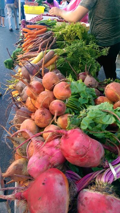 beautiful vegies outdoor market