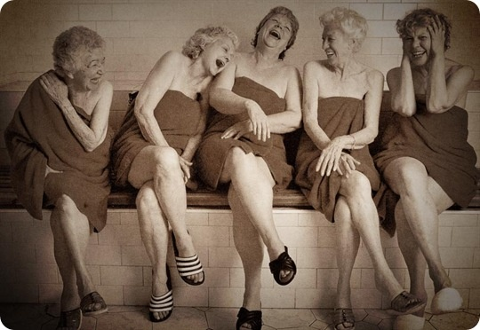 older-women-in-sauna-laughing