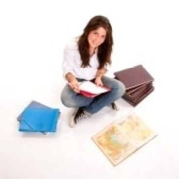 6661749-isolated-image-of-a-teenage-girl-preparing-an-exam