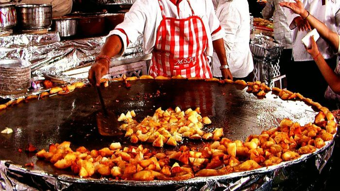 Streets food in Delhi