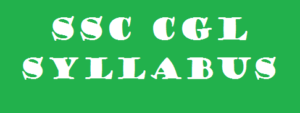 SSC CGL Syllabus Tier-I Examination