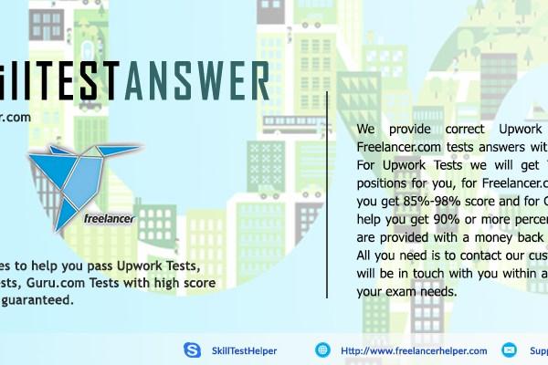 upwork test answers