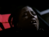 Tara in pain. Maybe after she is shot with a silver bullet?