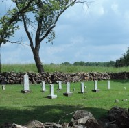 The family cemetery that was used by others in the community...