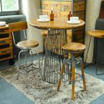 Industrial Bar Stool With Back Rest My Vintage Home