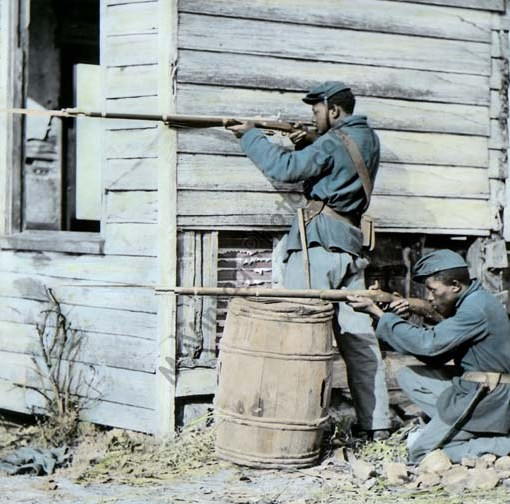 Black Soldiers at Dutch Gap Virginia 1864