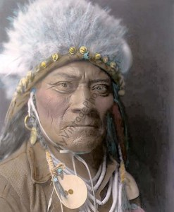 One Blue Bead a Crow Native American Indian Warrior 1908
