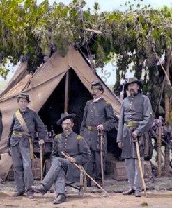 "Officers of Company ""F"" Virginia Cavalry 1865"