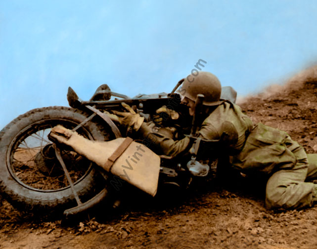 WWII Soldier Harley 1943