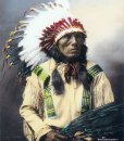 "High Horse ""Tasunke Wankatuya"" Native American Brule Sioux Chief"