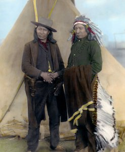 American Horse & Red Cloud, Chiefs Oglala Sioux Native American Indians 1891