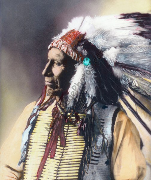 American Horse, Chief Oglala Sioux Native American Indian 1898