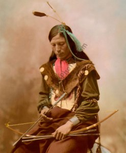 Bone Necklace, Chief Oglala Lakota Sioux Native American 1899
