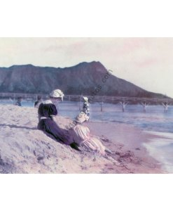Women on Waikiki Beach & Damond Head, Oahu Hawaii