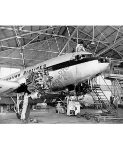 Hawaiian Air DC-3, Maintenance Hanger 1955
