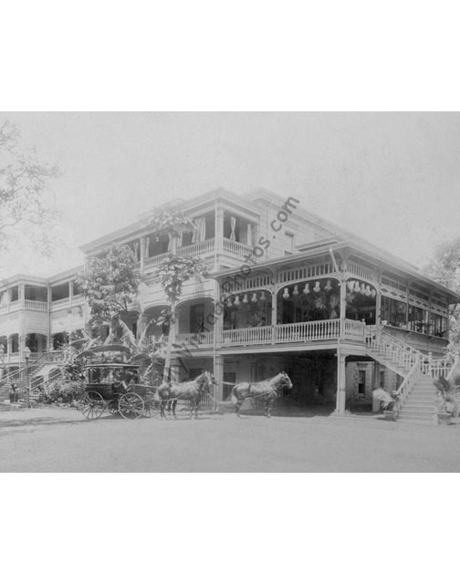 The Hawaiian Hotel, Honolulu Hawaii 1890