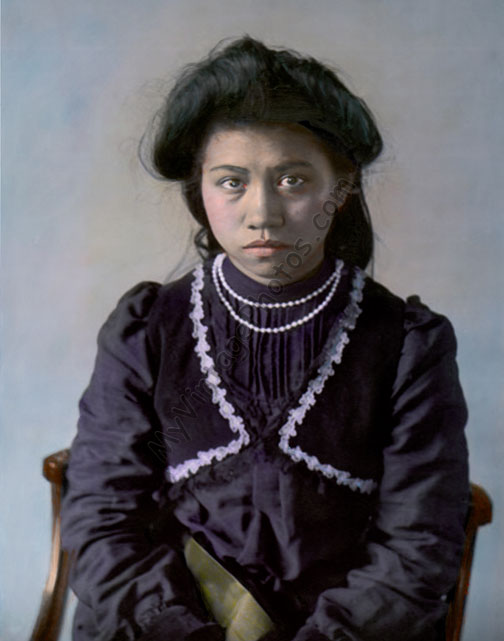 Jariuk Uklenk, aka Rose Hilderbrand, Cherokee Native American Indian, 1905