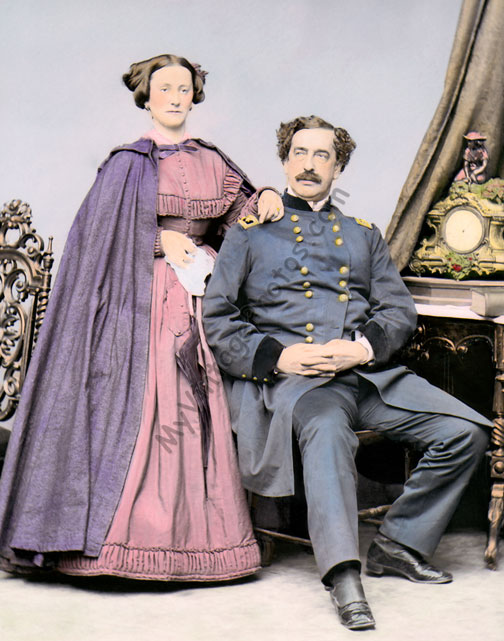Major General Abner Doubleday & wife
