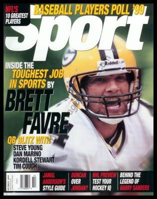 Brett Favre, SPORT magazine October 1999