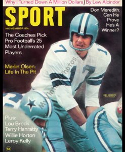 Don Meredith, SPORT magazine November 1968