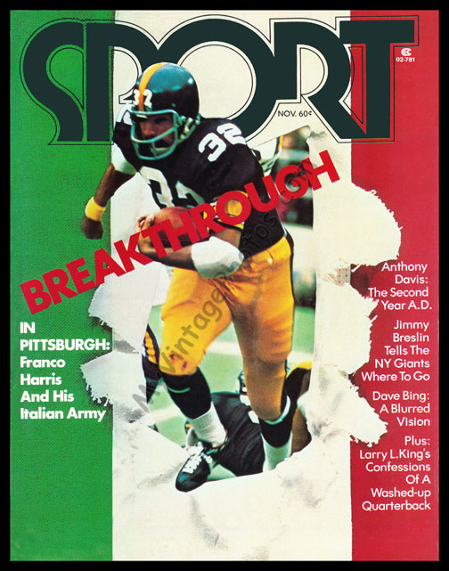 new concept 1b459 ab066 Franco Harris, SPORT magazine November 1973