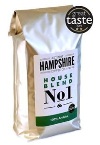 Hampshire Coffee Co - House Blend No 1- Great Taste Award Winner 2014 - Coffee Beans 1kg Bag