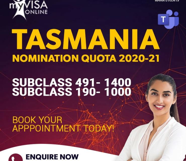 Tasmania Nomination quota for  2020 – 21