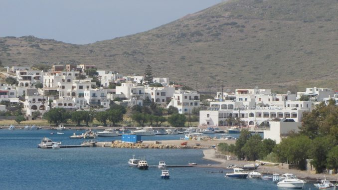Coming into port in Patmos