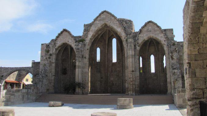 More church ruins in Rhodes