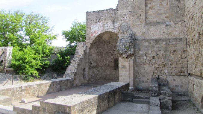 Side entrance to the old city in Rhodes