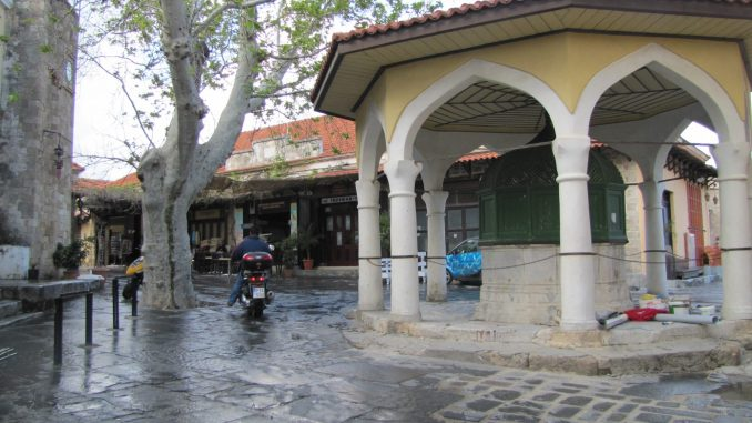 Shopping area in Rhodes
