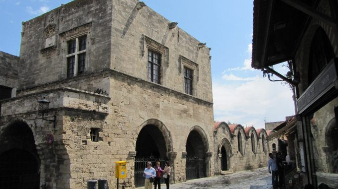 Street view in Rhodes
