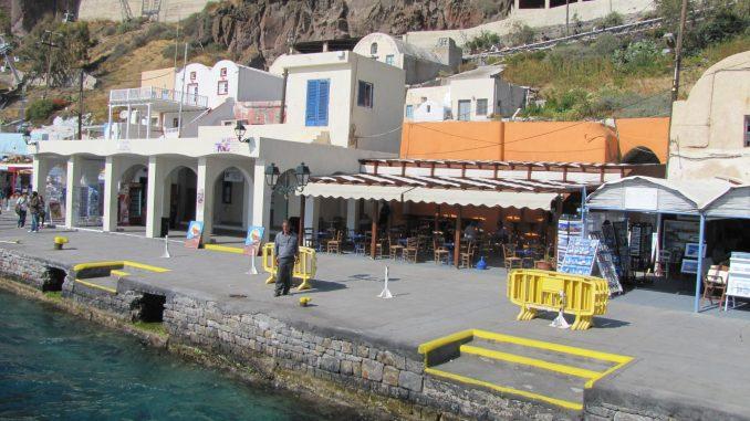 Dock in Santorini