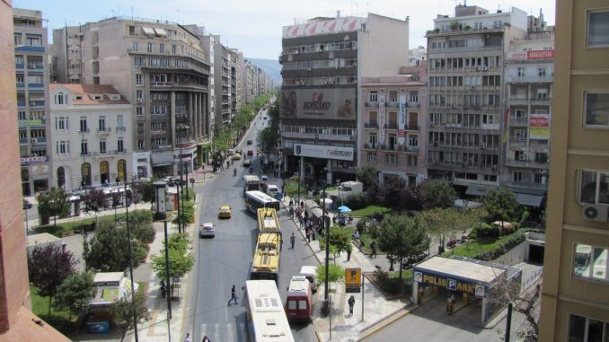 Street view in Athens