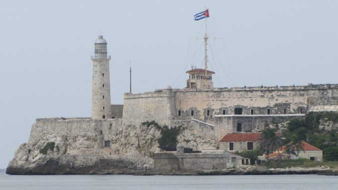 Fortress at the entrance to Havana harbour